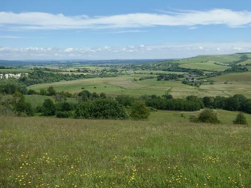 View towards Amberley from Arundel Park Amberley Circular via Arundel Park walk
