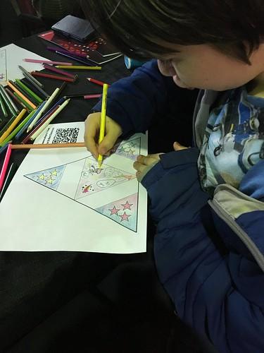 Star card colouring, Rehua Marae