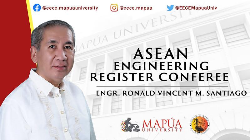 ASEAN Engineering Register Conferee: Engr. Santiago