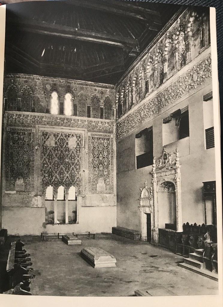 Sinagoga del Tránsito a finales de los años 40. Foto de Afrodisio Aguado