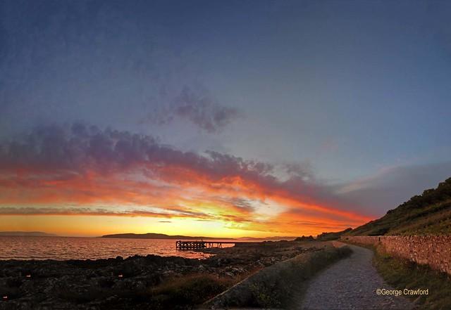 Portencross Sunset Pier Path(17)