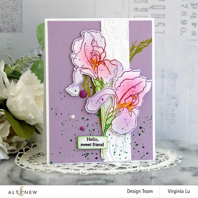 Altenew-BAF-Bearded Iris-Cheerful Bloom3DEmbossing Folder