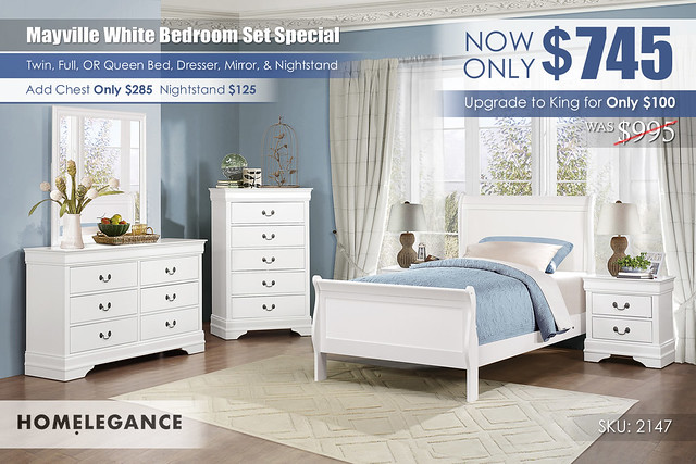 Mayville White Bedroom Set Special_2147_Homelegance