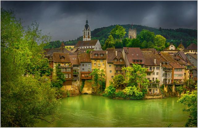 Laufenburg on the Rhine (Swiss part)