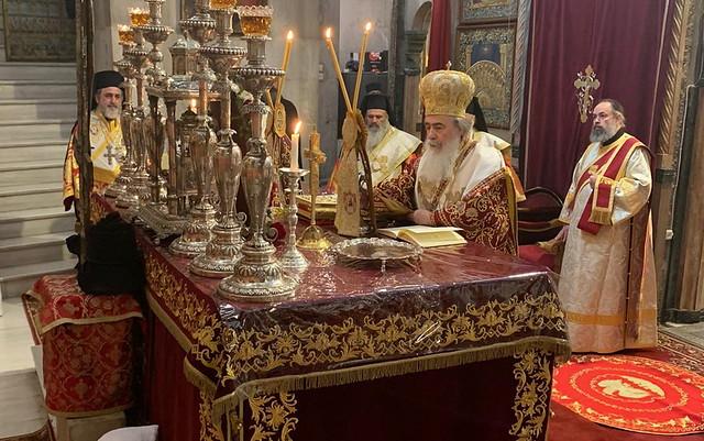 27 марта 2021, Иерусалимский Патриарх Феофил принял поздравления с днем тезоименитства