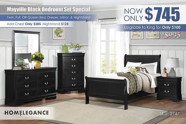 Mayville Black Bedroom Set Special_2147_Homelegance