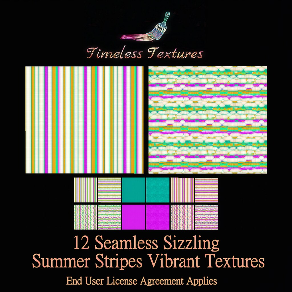 TT 12 Seamless Sizzling Summer Stripes Vibrant Timeless Textures