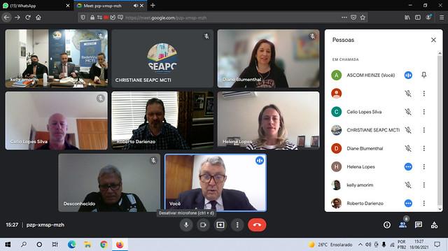 18/06/2021 Reunião online com MCTI USP sobre a produção de vacinas no Brasil
