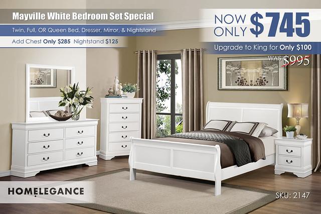 Mayville White Queen Bedroom Set Special_2147_Homelegance