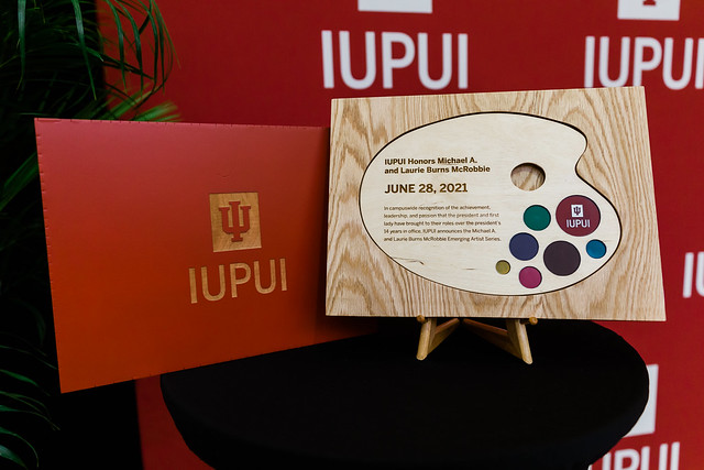 IUPUI Honors Michael A. and Laurie Burns McRobbie