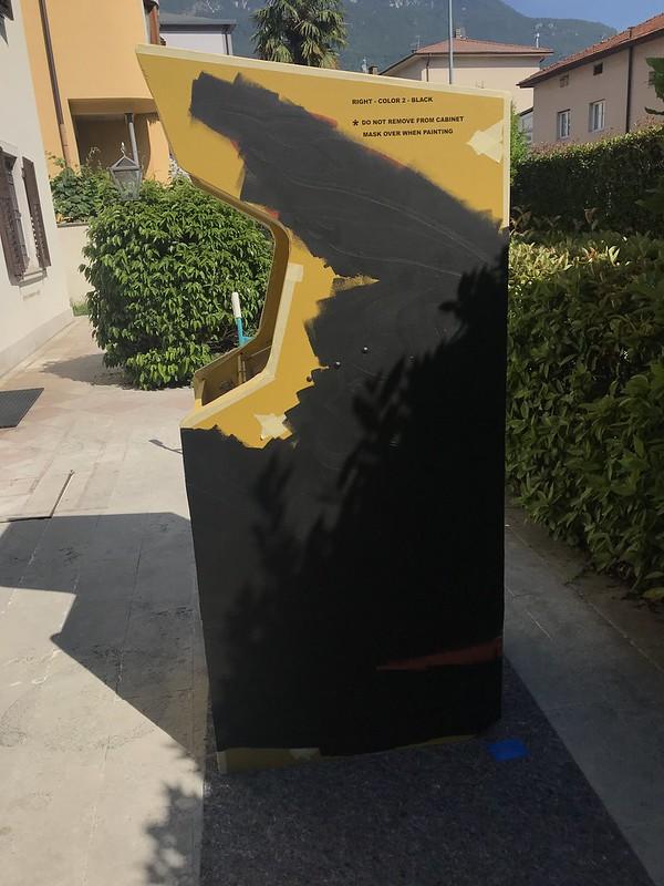 Scramble Black Stencil