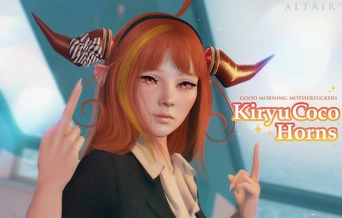 ALTAIR* kiryu coco horns (GROUP GIFT)