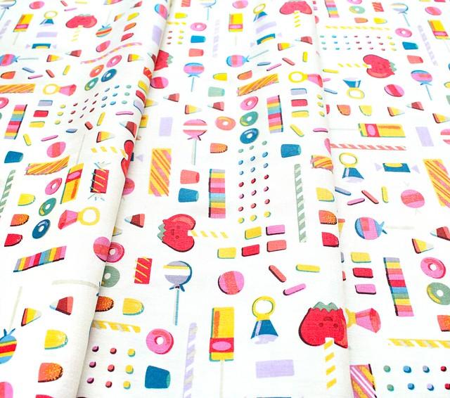 Riley Blake Designs Tiny Treaters C10482-CREAM Retro Candy Cream