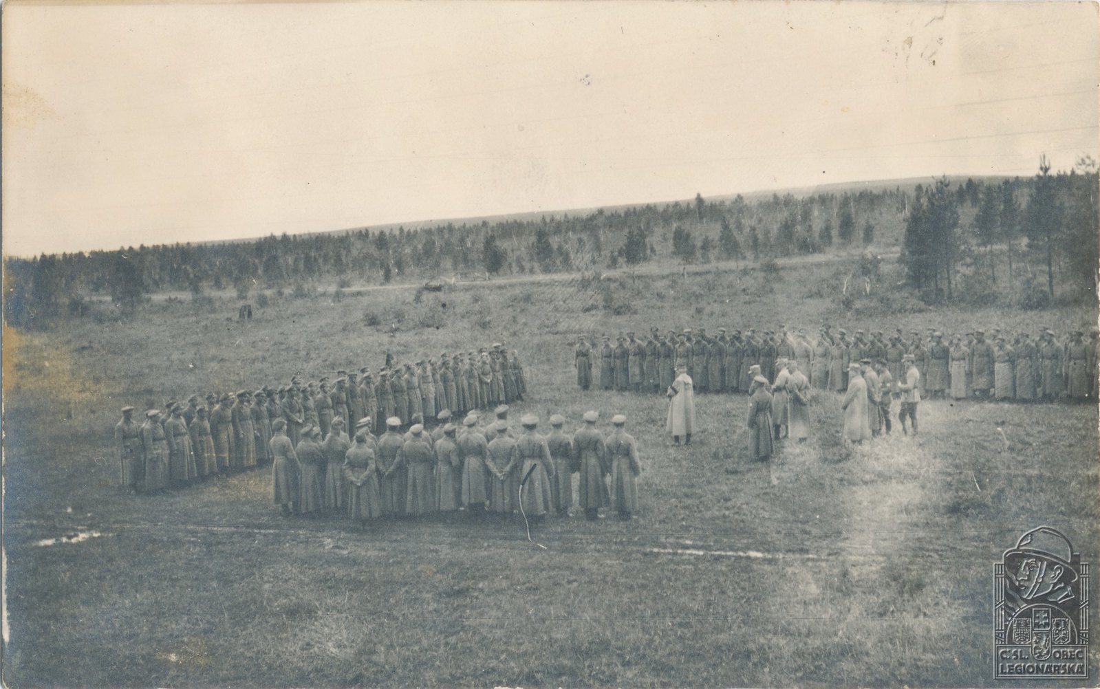 29. 1919. Иркутск. Выступление генерала Жанена перед 3-м батальоном 4-го полка