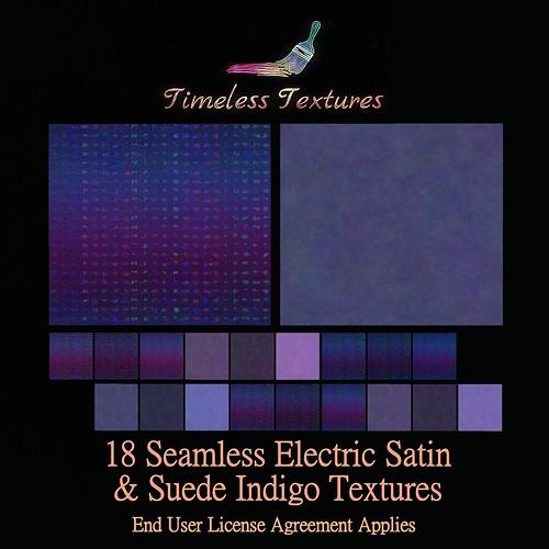 TT 18 Seamless Electric Satin & Suede Indigo Timeless Textures