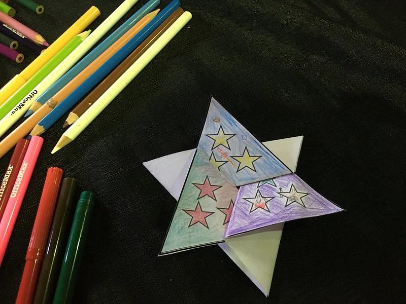Completed star card, Rehua Marae