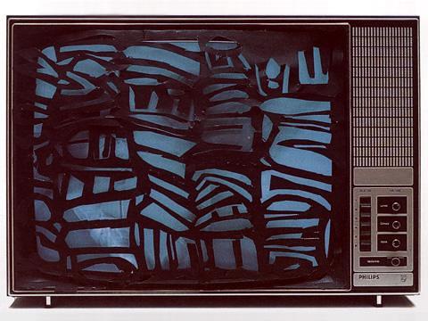 La télévision dechiquetée ou l'anti-crétinisation (Jagged Television or Anti-Cretinization)