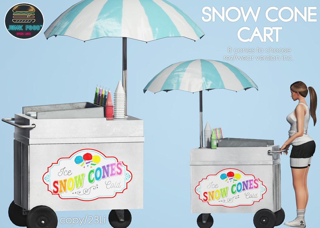 Junk Food – Snow Cone Cart Ad
