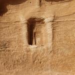 Betyl in niche, the Siq, Jabal Ithlib, Hegra (Madain Salih), Saudi Arabia  (2)