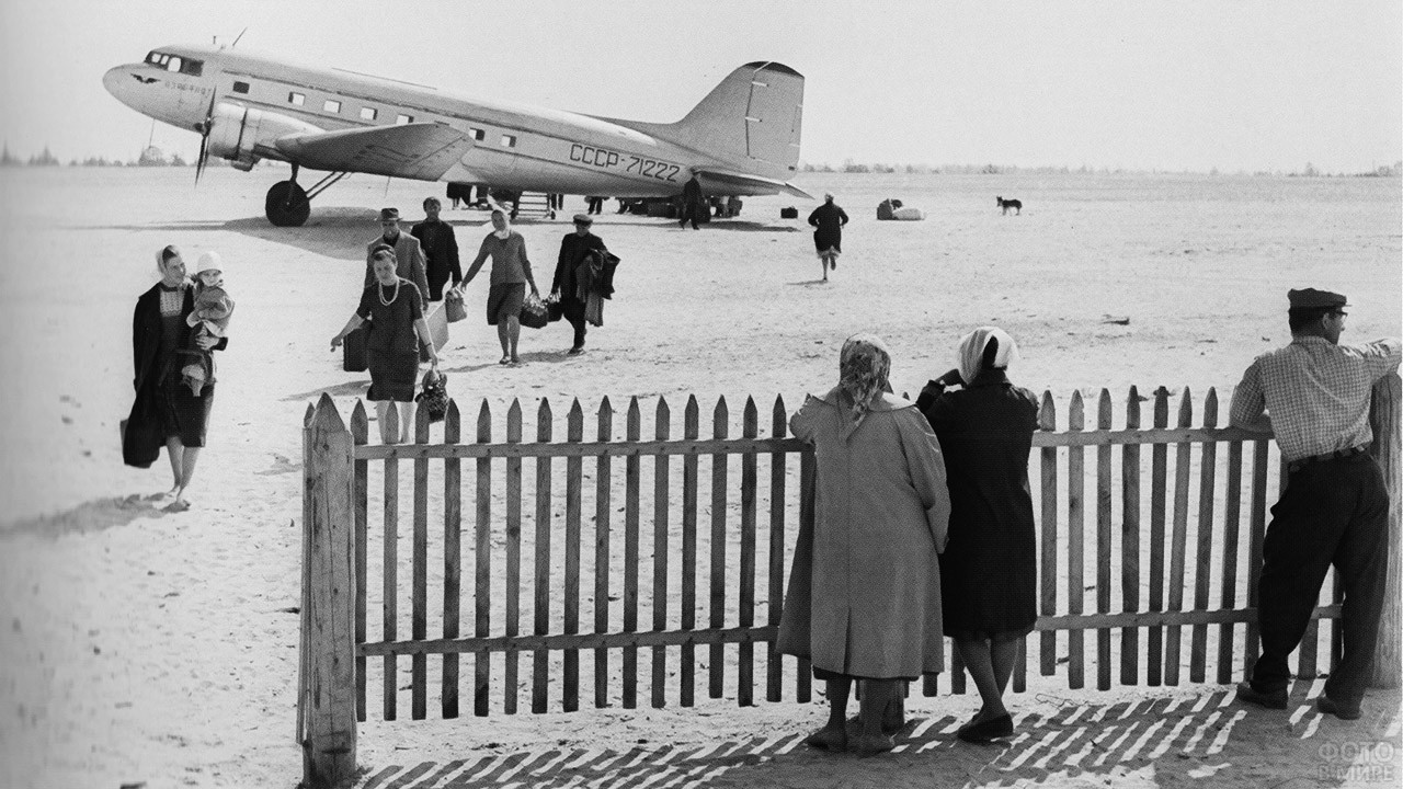 1964. Сибирь. Аэропорт Сургута