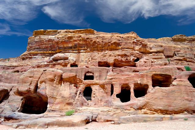 Nabataean Tombs in petra - Jordan.