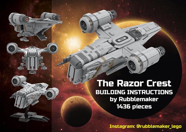 The Razor Crest (midi-plus scale) - Instructions available