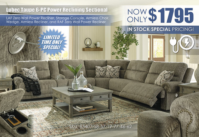 Lubec Taupe 6-PC Power Reclining Sectional_85407-58-57-19-77-46-62-T976_InStock