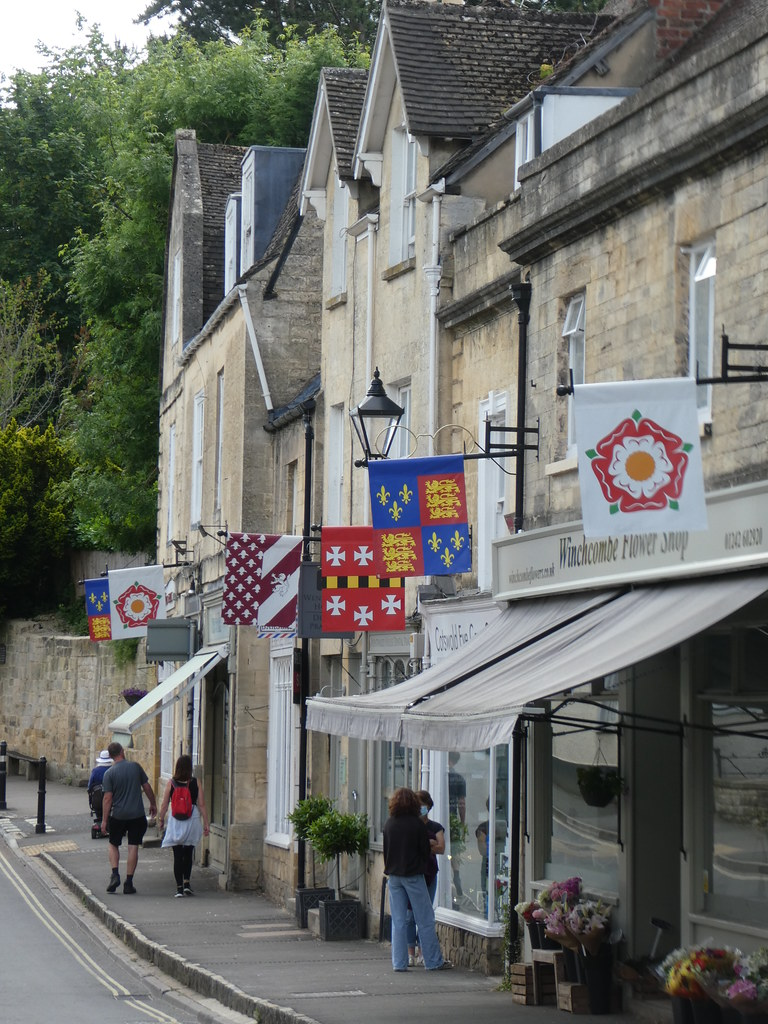 Flags on Winchcombe High Street