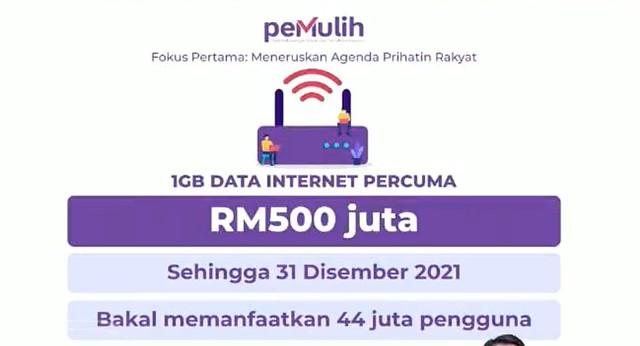 Data Internet Percuma 1Gb Dilanjutkan Lagi