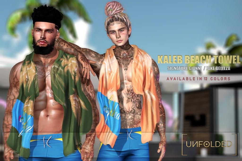 UNFOLDED X Kaleb Beach Towel  ♥