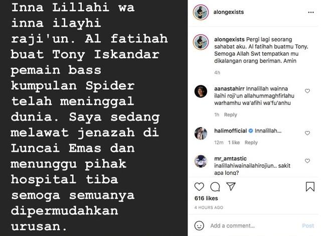 Tony Spider Meninggal Dunia