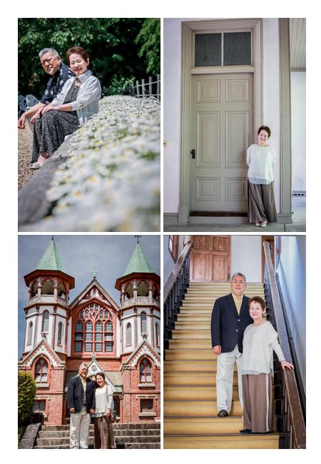 夫婦フォト 歴史的建造物で記念撮影