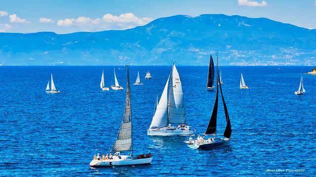 Kraljevička regata 2021. - zagrijavanje pred start (2)