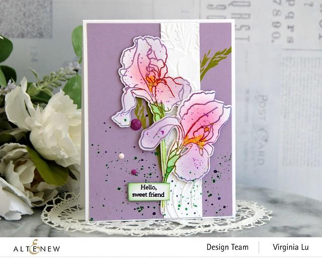 Altenew-BAF-Bearded Iris-Cheerful Bloom3DEmbossing Folder -001