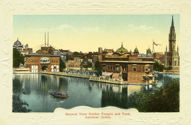 General View golden Temple and Tank ...