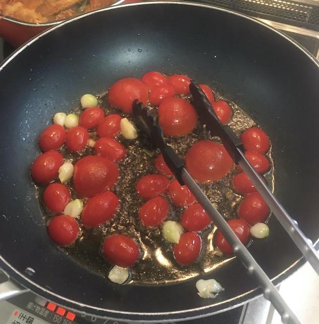 エビとトマトのパスタ