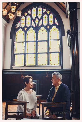 教会にて シニア世代のご夫婦