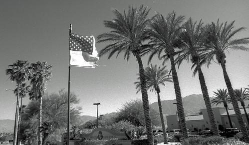 Abused American Flag at Miracle Springs Resort (1)