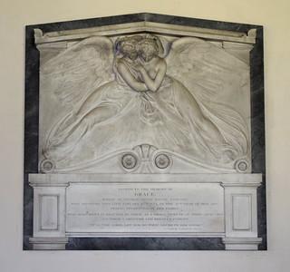 grieving angels for Grace Bagge (Sir Richard Westmacott, 1834)