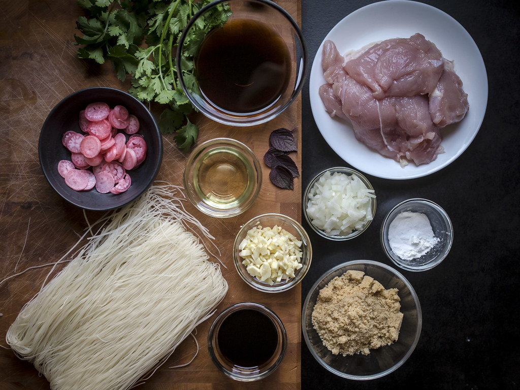 Grilled Turkey Rice Noodle Bowls
