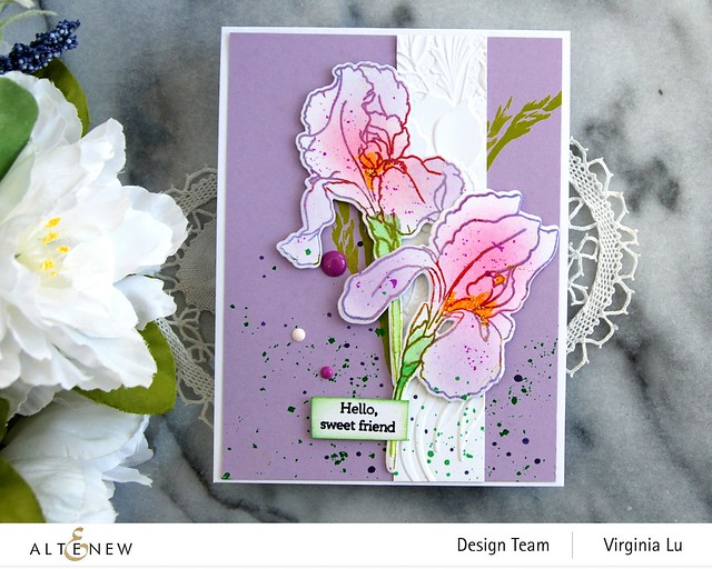 Altenew-BAF-Bearded Iris-Cheerful Bloom3DEmbossing Folder -004