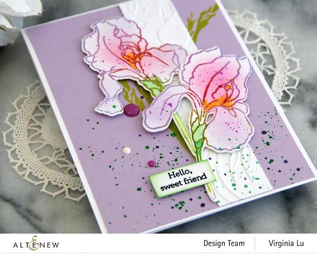 Altenew-BAF-Bearded Iris-Cheerful Bloom3DEmbossing Folder -003