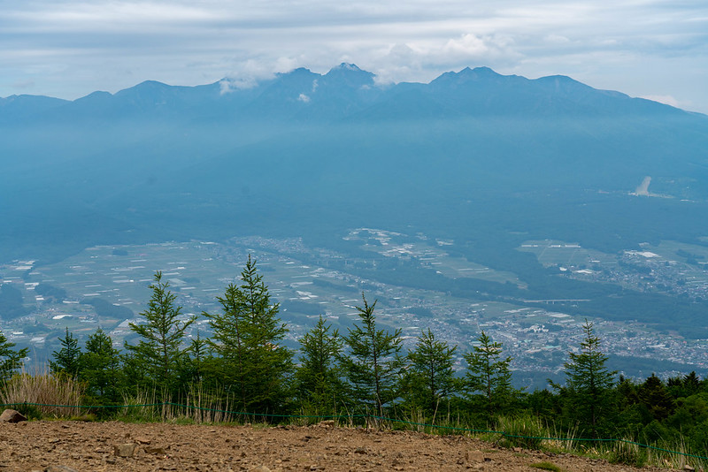 入笠山の山頂から見える八ヶ岳