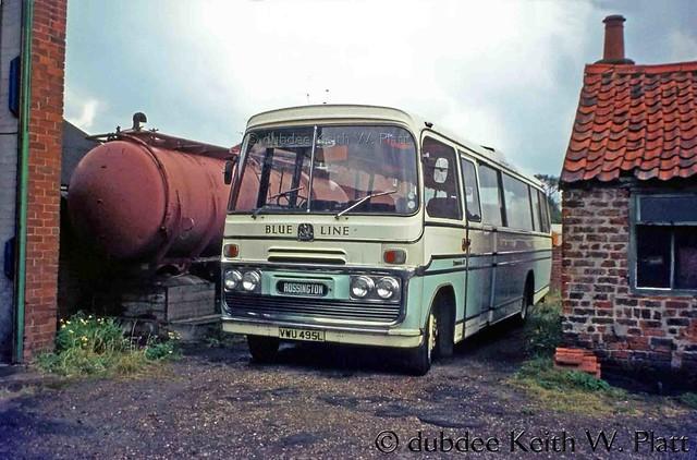 28th August 1976 VWU495L Bedford SB5 at Armthorpe.