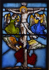 Angels collect Christ's blood in chalices at the Crucifixion (German, 16th Century)