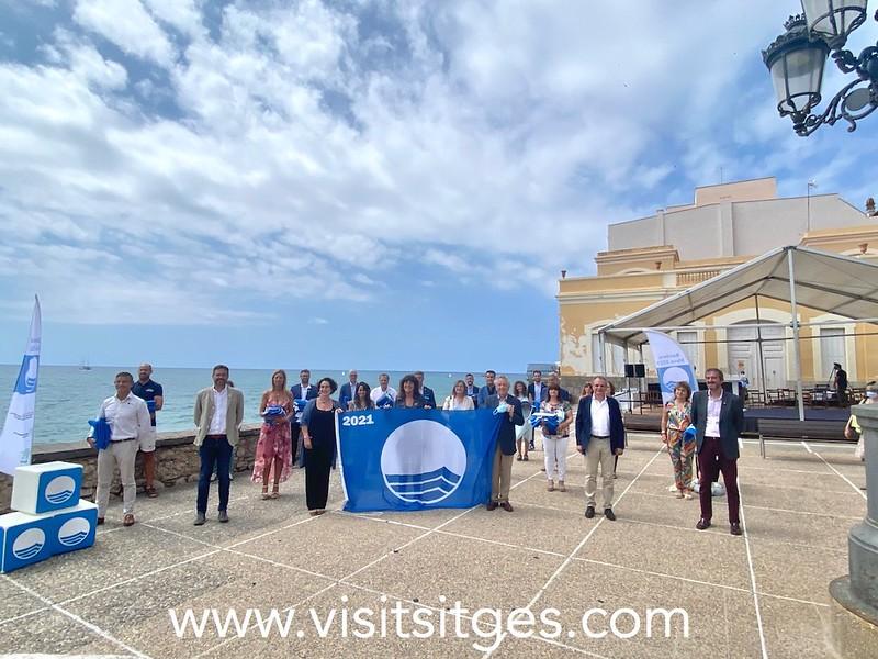 Sitges acoge el acto de entrega de las Banderas Azules 2021 de Cataluña