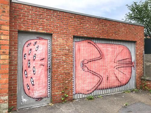 """street art """"Creature"""" from artist Bisser"""