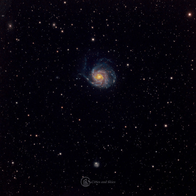 Az M101 galaxis és környezete (Paragi Zsolt, Budai Beáta)