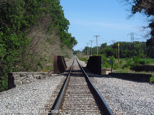 The Livonia Avon & Lakeville Railroad bridge over Honeoye Creek, New York