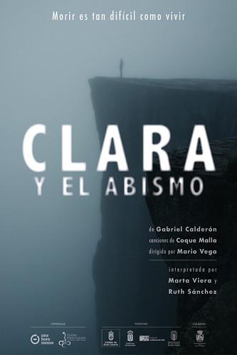"""Cartel promocional de la obra de teatro """"Clara y el abismo"""""""